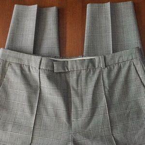 J CREW Black/white plaid career style pants 6